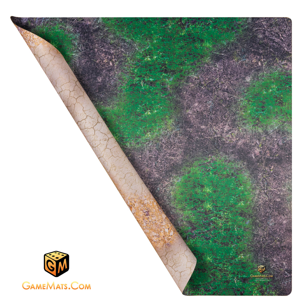GAME MAT 4 x 4 DOUBLE SIDED  Desert/Woodland - Janus Alpha