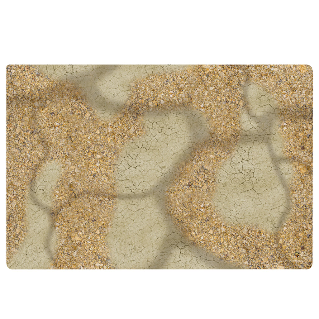 GAME MAT 6 x 4 DOUBLE SIDED  Desert/Woodland - Janus Alpha
