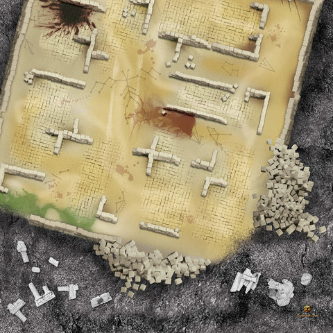 GAME MAT 4 X 4 RUNIC RUINS - Limited Edition - CLEARANCE