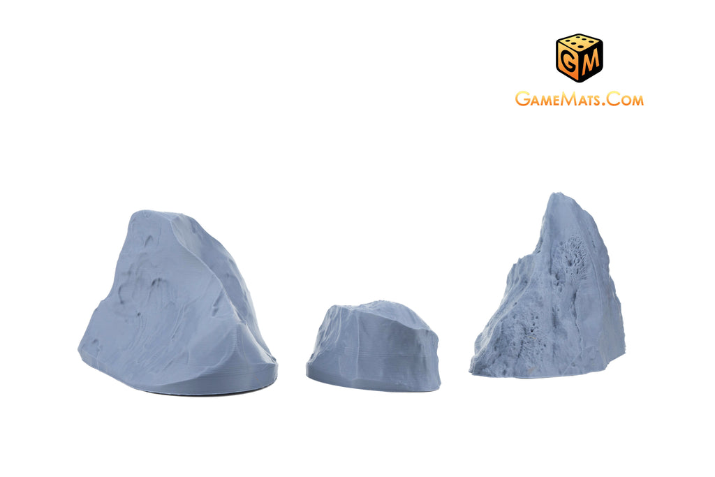 PrinTerrain STL Savage Realms ice ridges 3d printable terrain scenery for tabletop wargames