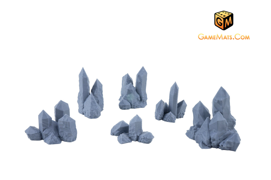 PrinTerrain STL scatter terrain small ice crystals 3d printable terrain scenery for tabletop wargames