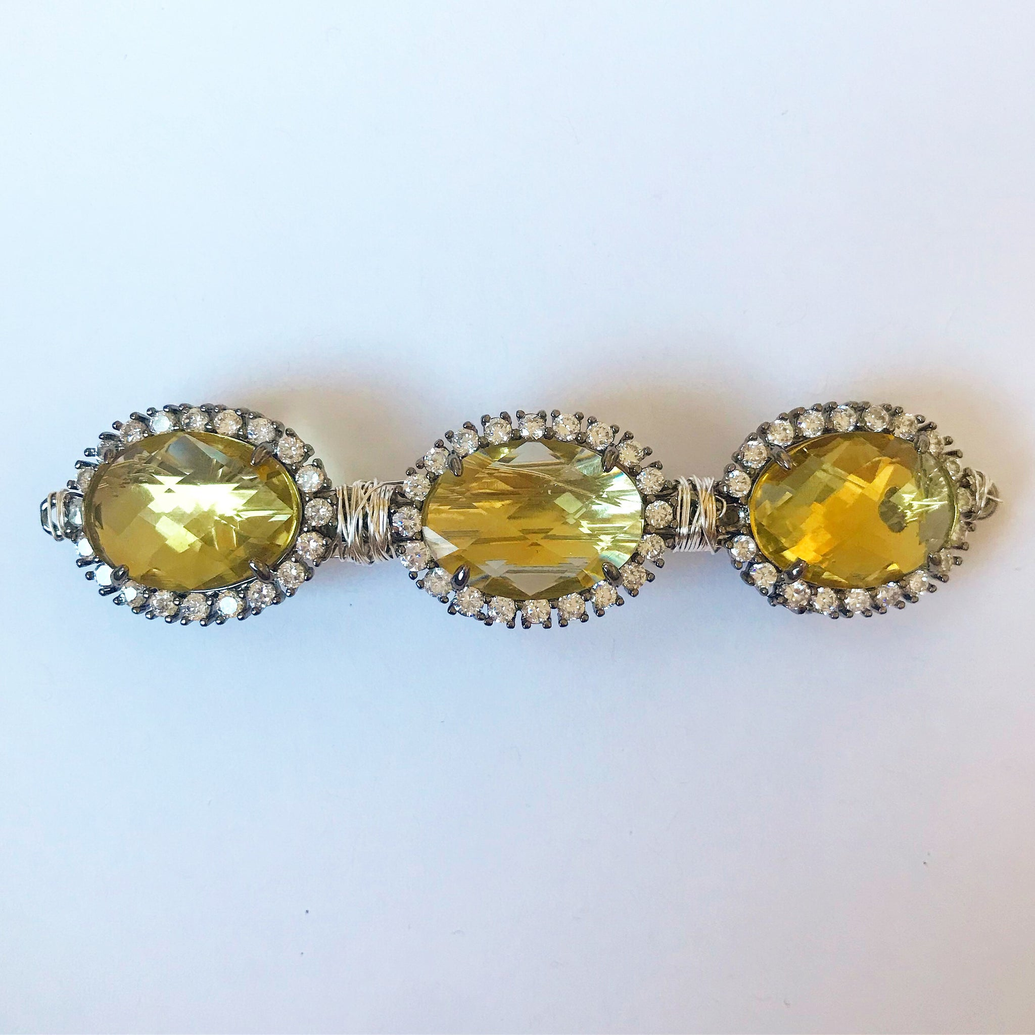 Crystal Gemstone Barrette