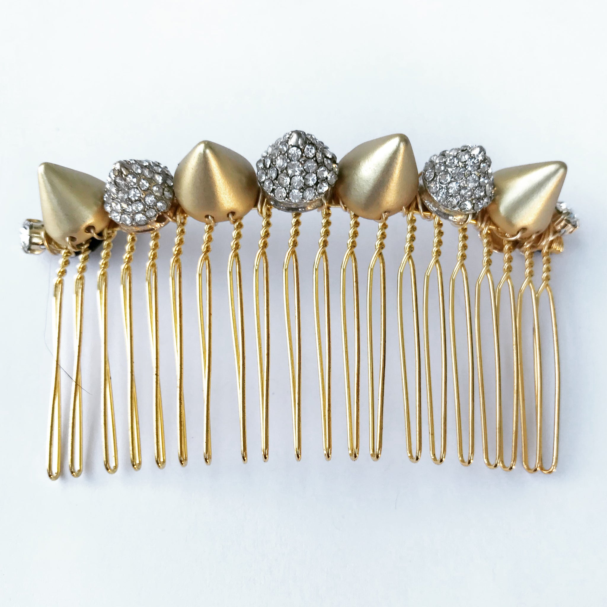 Gold Crystal Spikes Comb