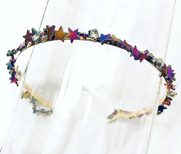 Rainbow Stars Crystal Crown