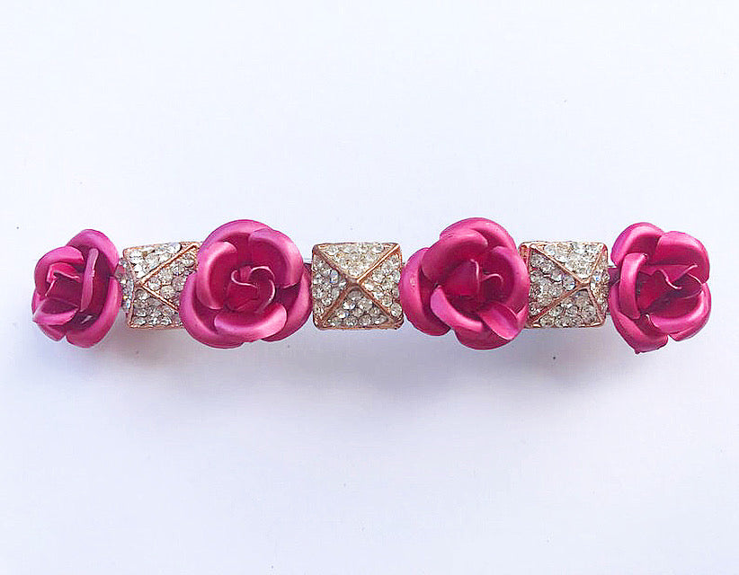 Rose Flower Pyramid Barrette