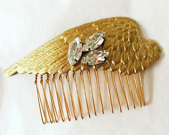 Crystal Wings Hair Comb