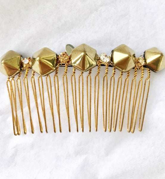 Hexagon Crystal Hair Comb