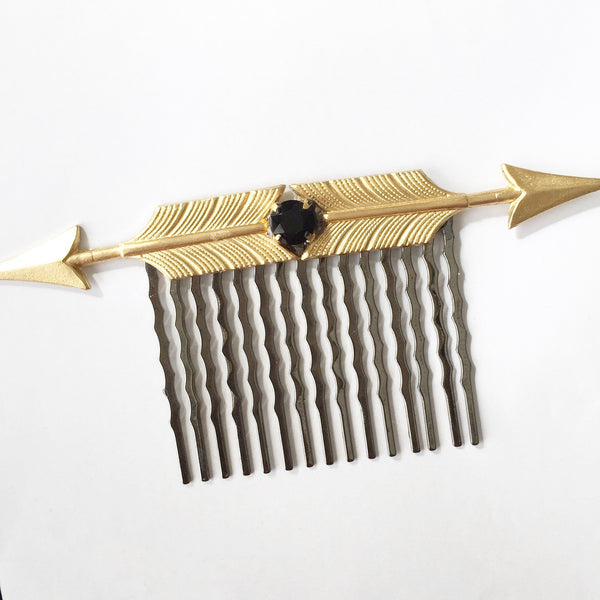 Arrow Crystal Hair Comb