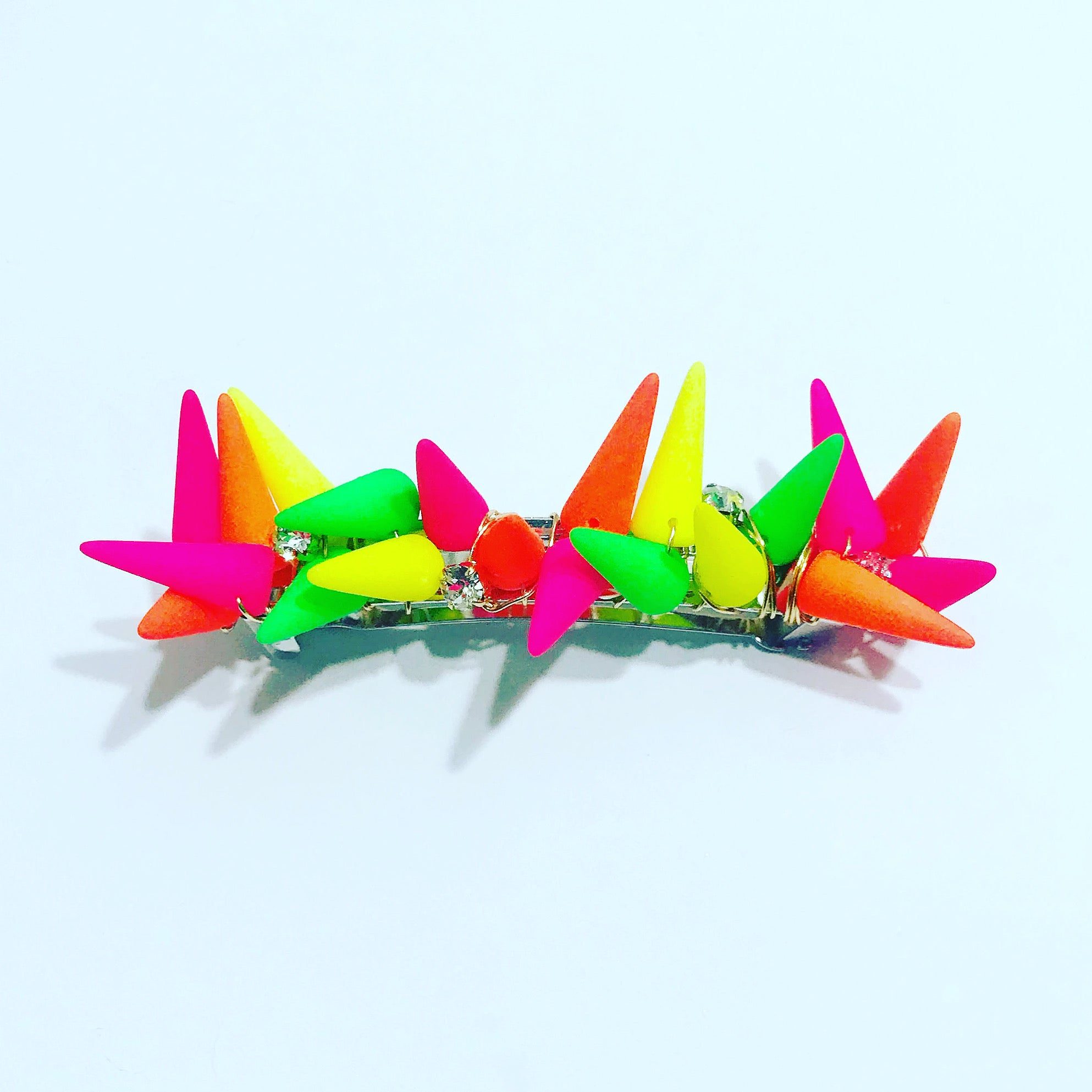 Neon Crystal Spike Barrette