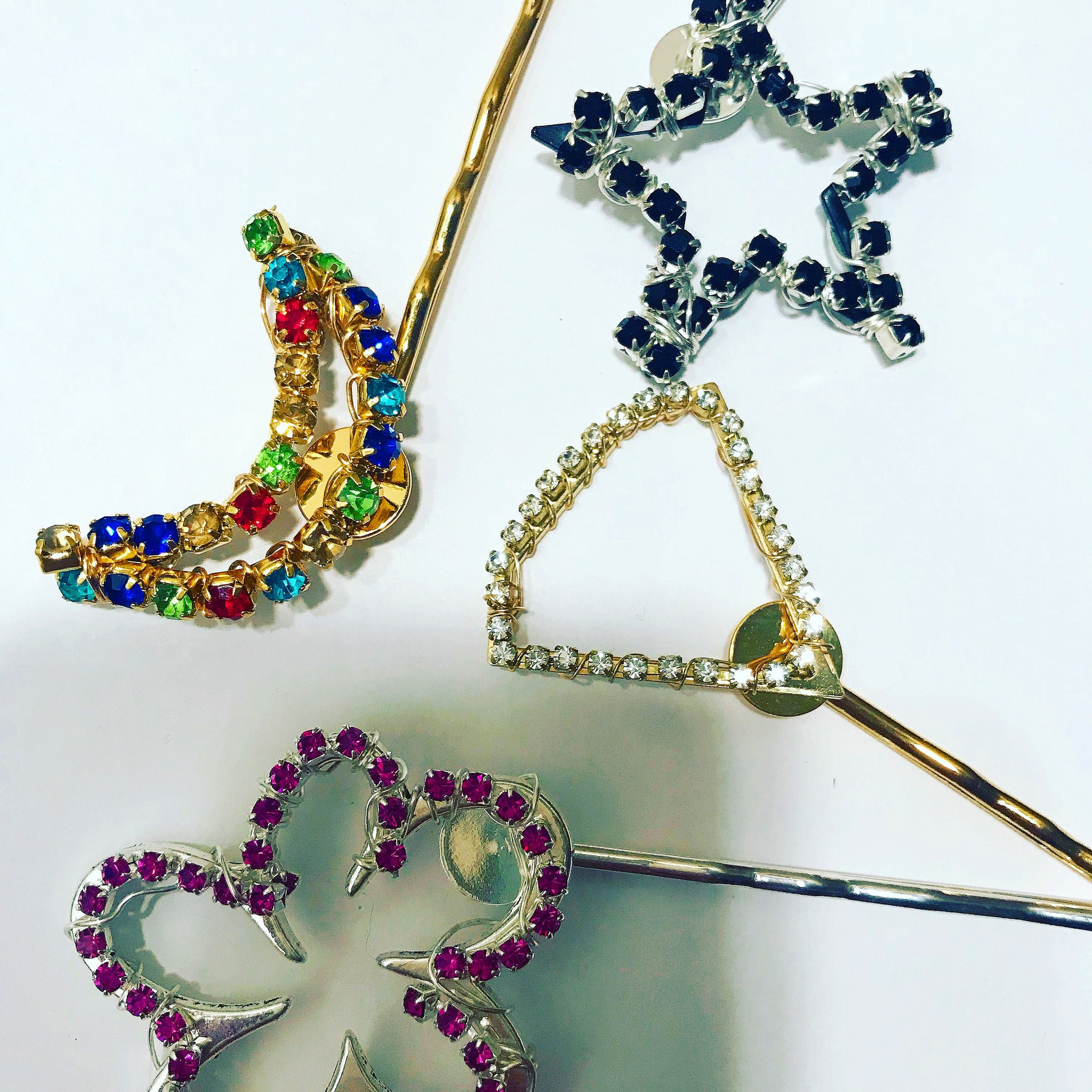 Crystal Geometric Hair Pin