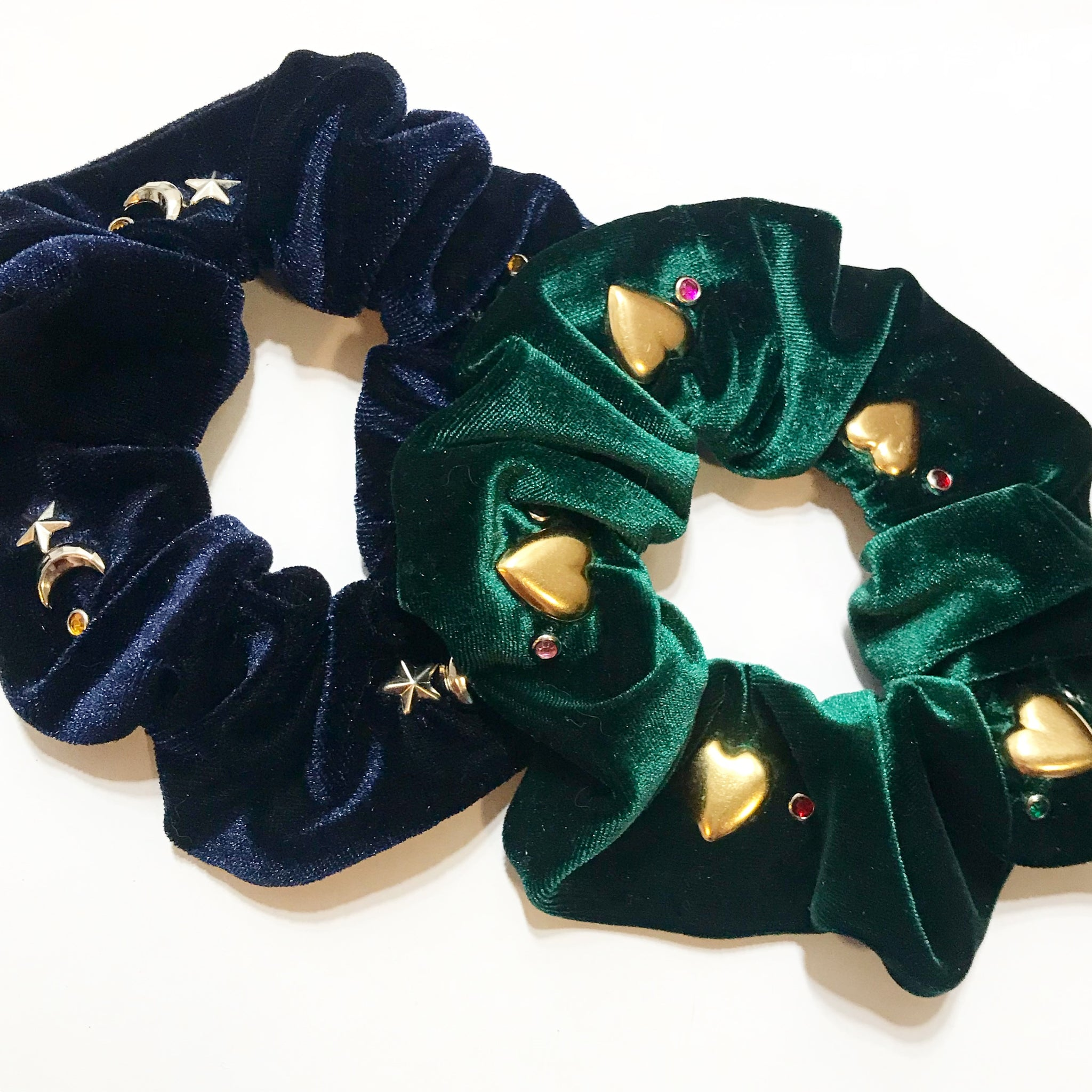Studded Velvet Scrunchie