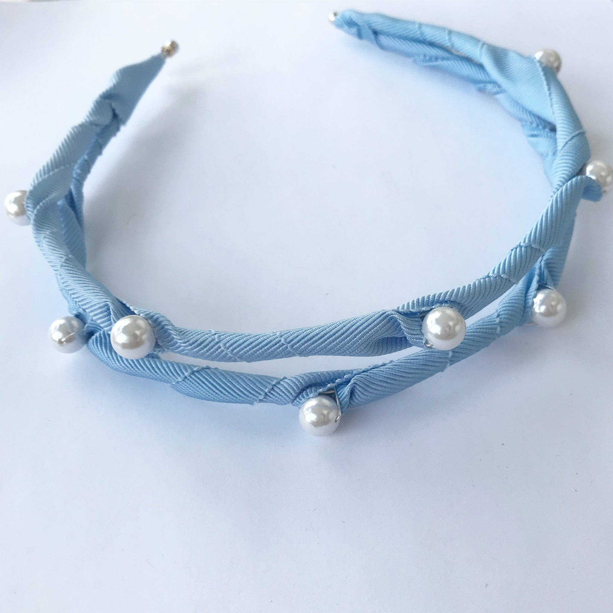 Ribbon Pearl Headpiece