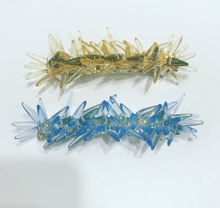Pastel Glass Spike Barrette