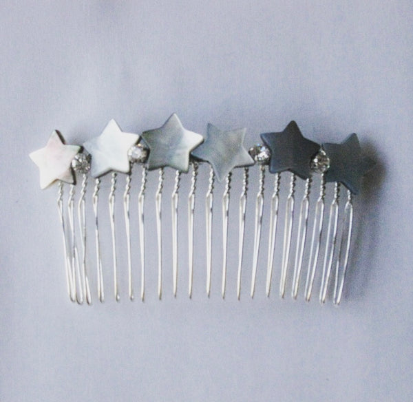 Mother-of-Pearl Star Crystal Comb