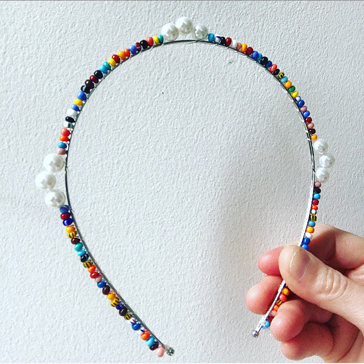 Beaded Pearl Crown