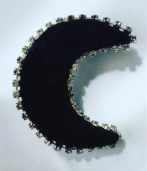 Crystal Crescent Moon Barrette