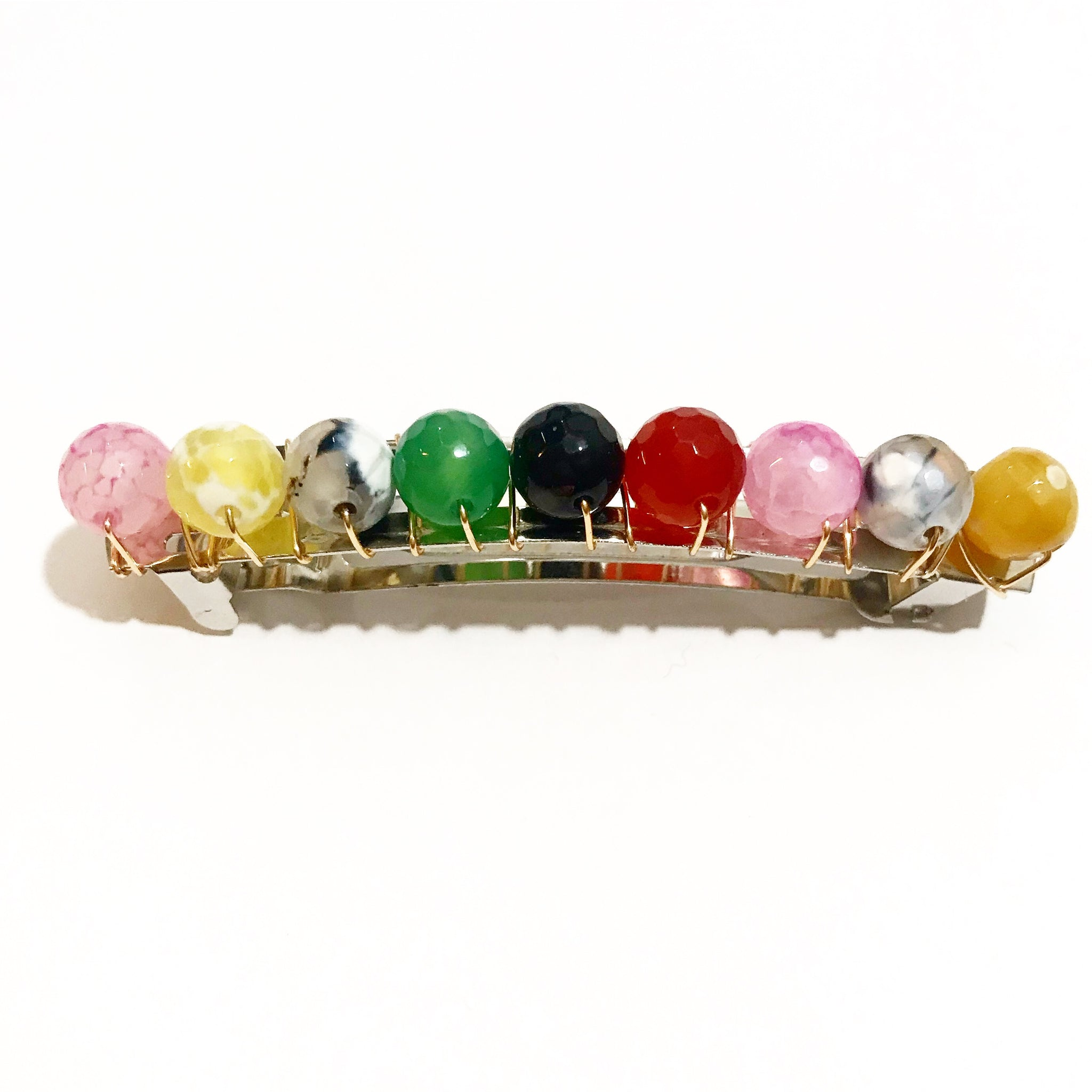 Multi-Color Gemstone Barrette