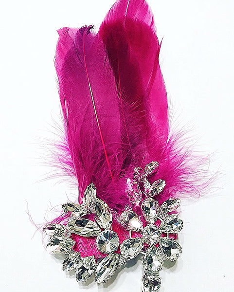 Crystal Feather Barrette
