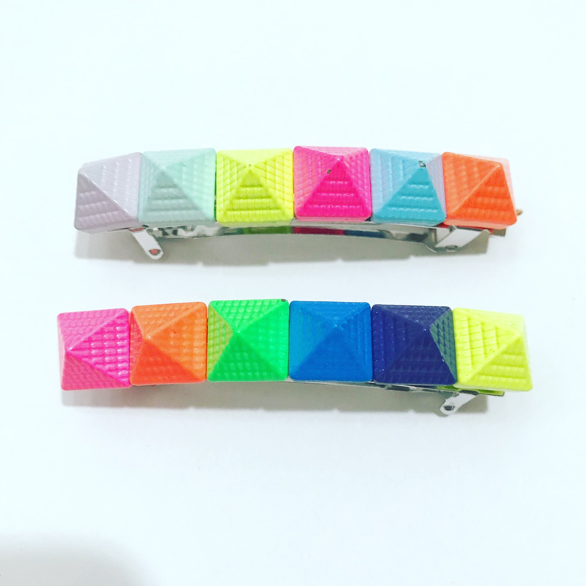 Rainbow Pyramid Barrette