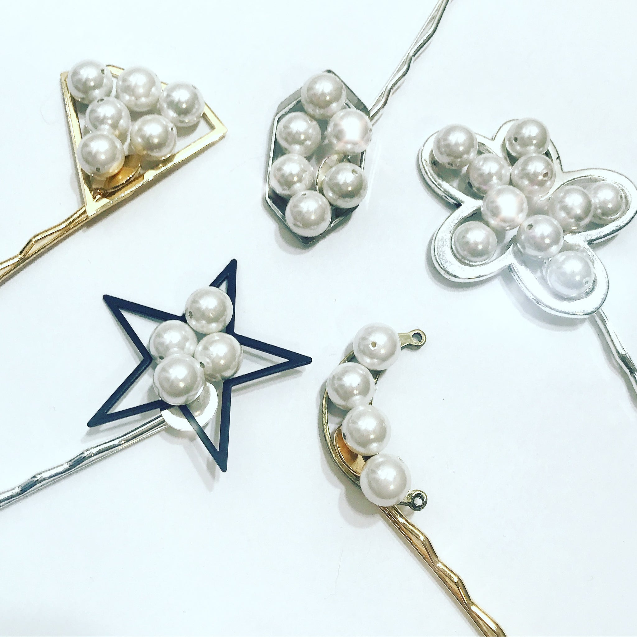 Pearl Geometric Hair Pin