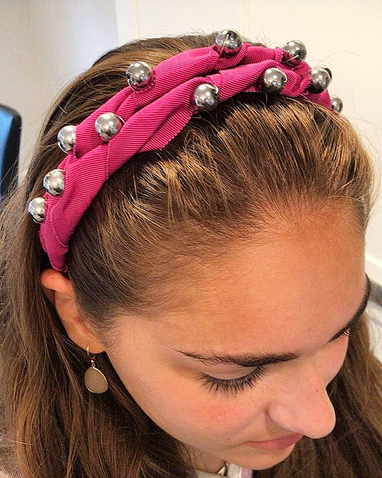 Grosgrain Jeweled Headpiece