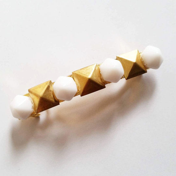 Hexagon Studded Barrette