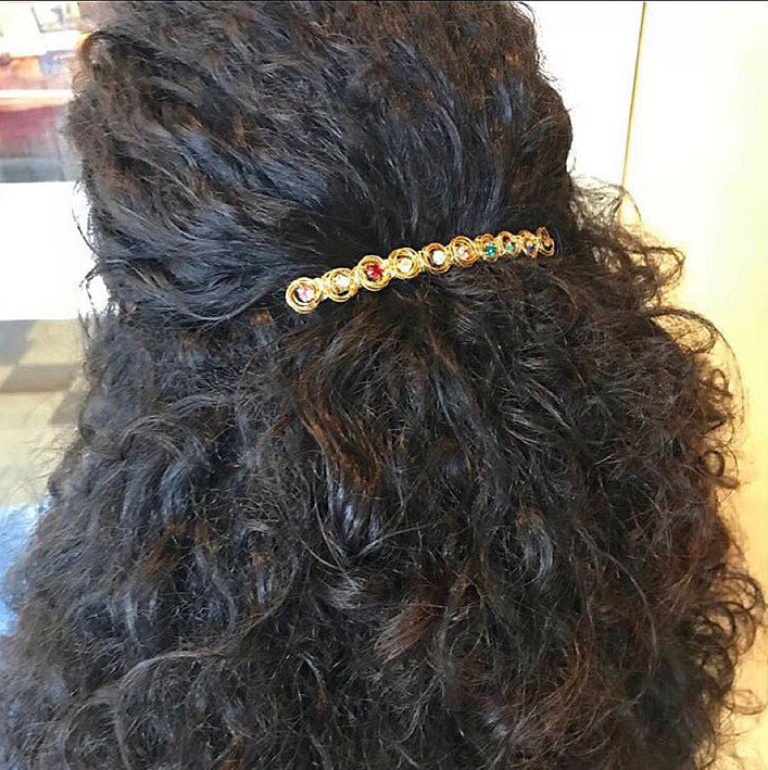 Crystal Love Knot Barrette