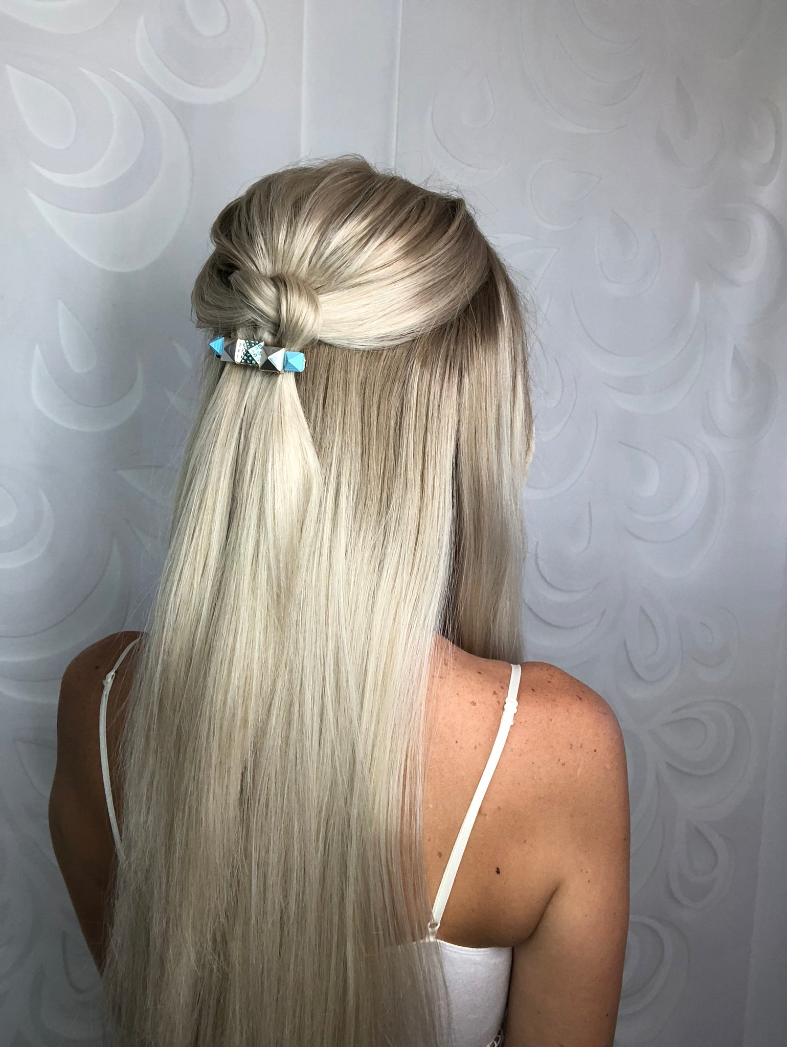 Crystal Pyramid Barrette