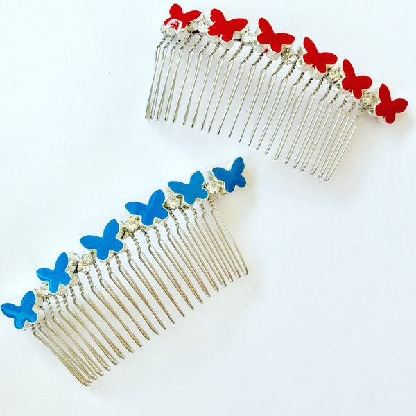 Butterfly Crystal Comb