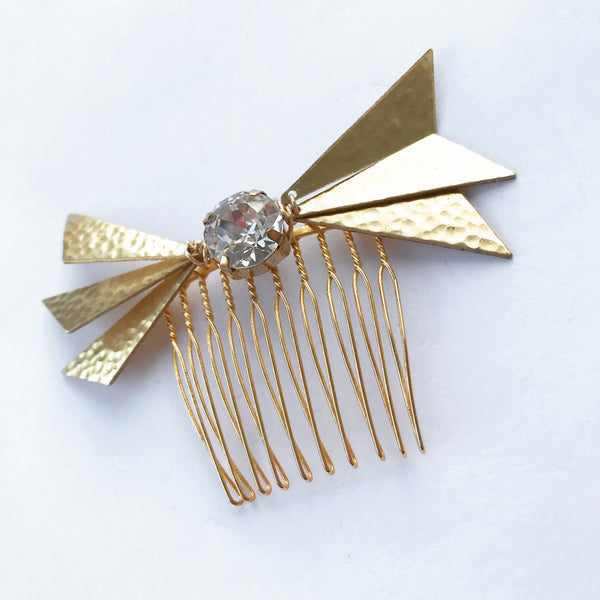 Geometric Crystal Bow Comb