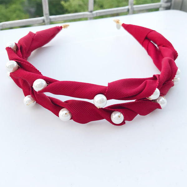 Grosgrain Pearl Headpiece
