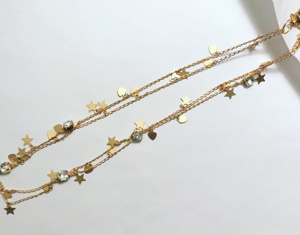 Celestial Crystal Hair Chain