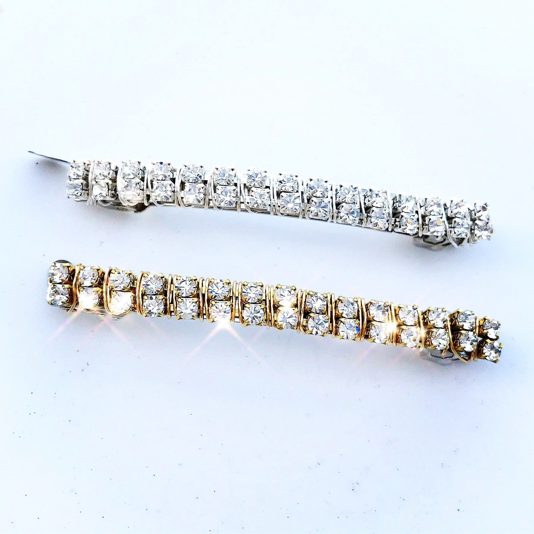 Crystal Chain Barrette