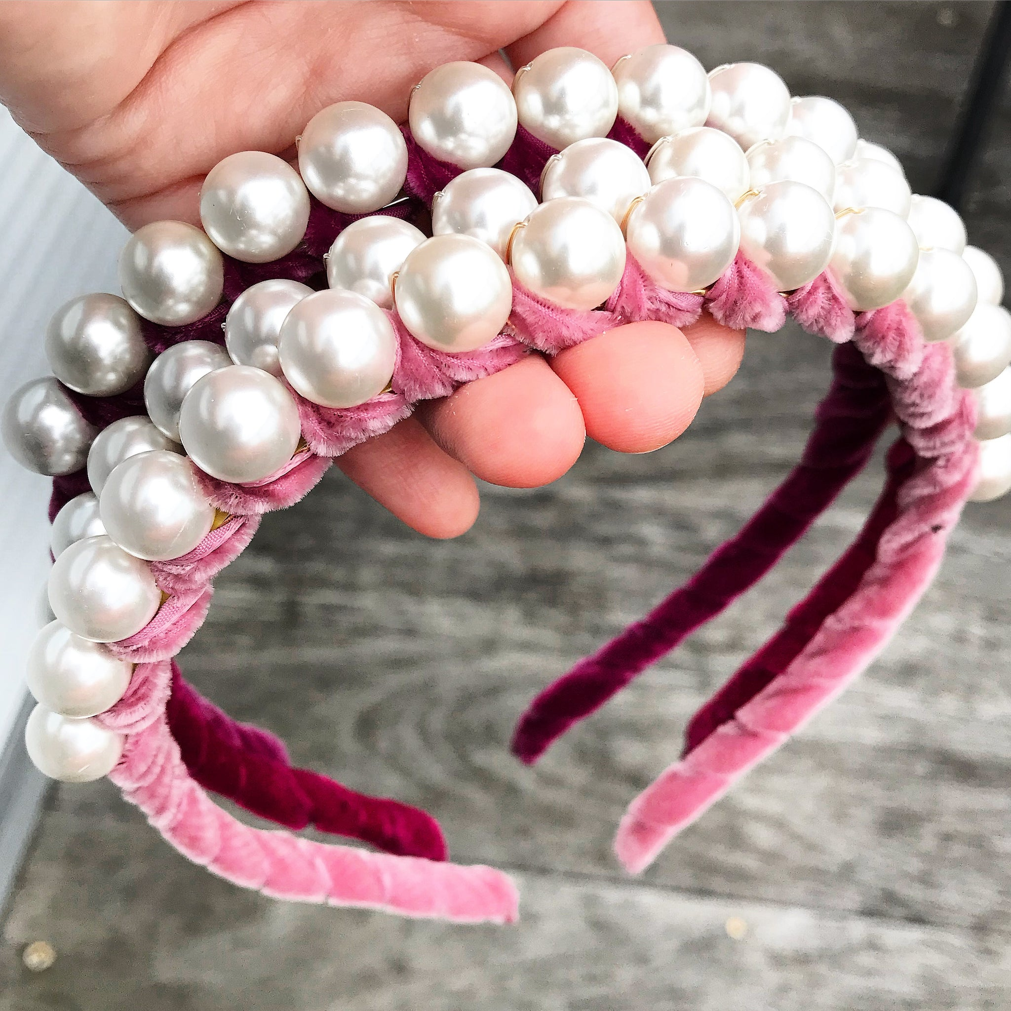 Velvet Pearls Crown