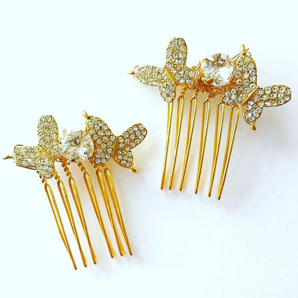 Crystal Butterfly Comb