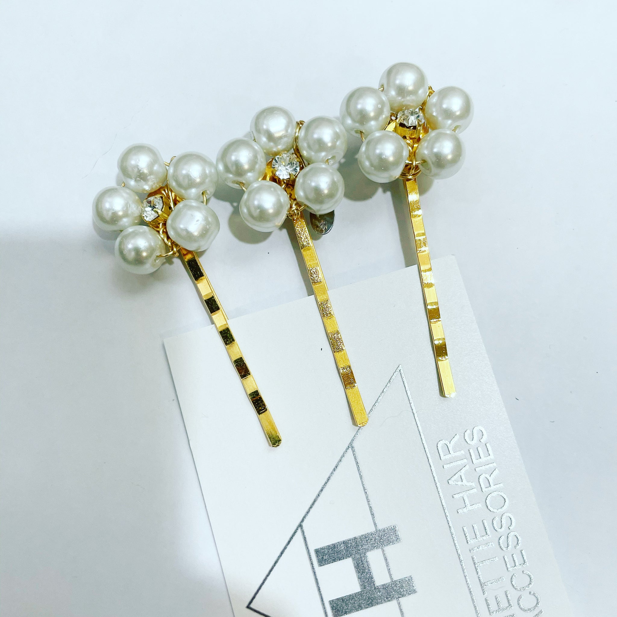 Crystal Pearl Flower Hair Pin Set