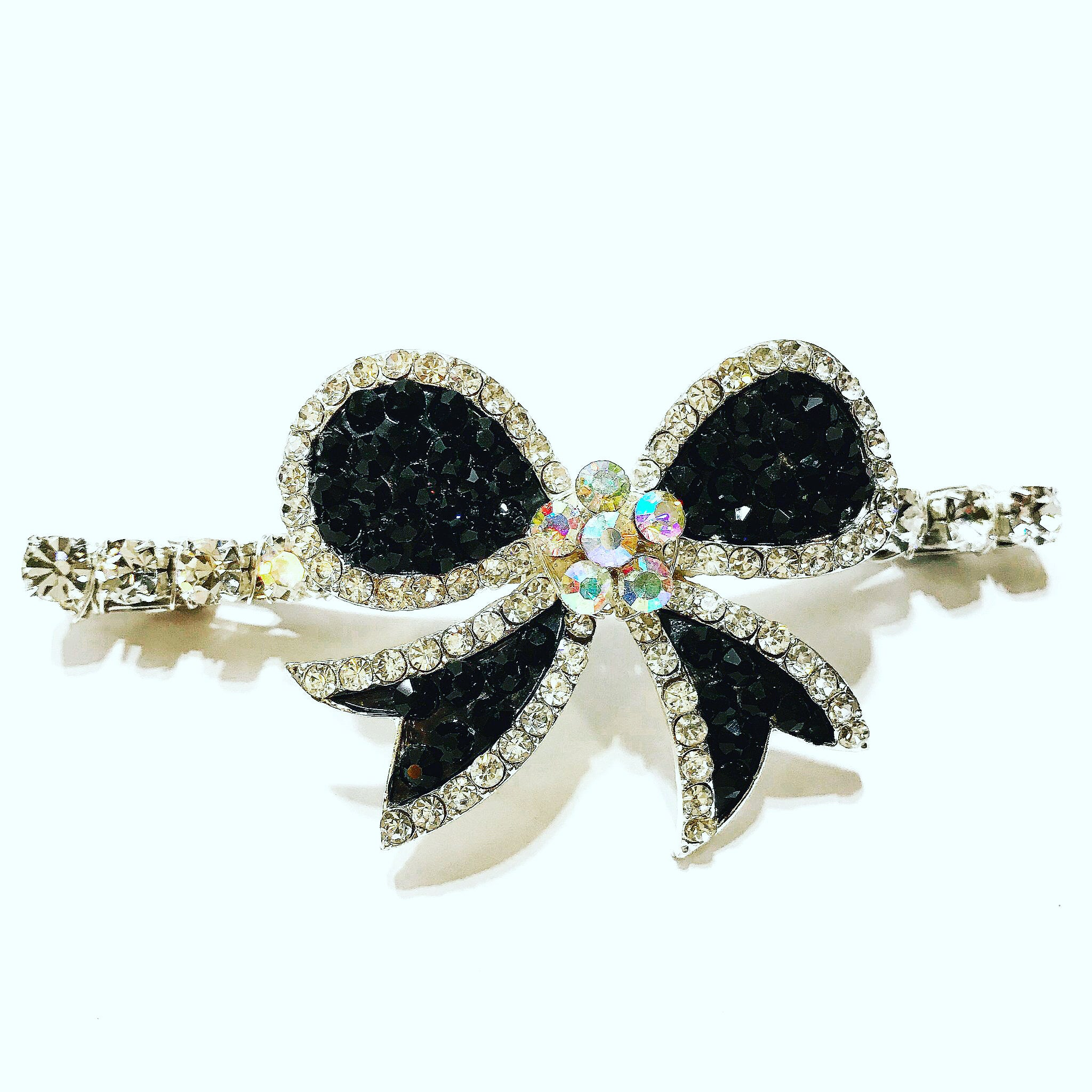 Crystal Bow French Barrette
