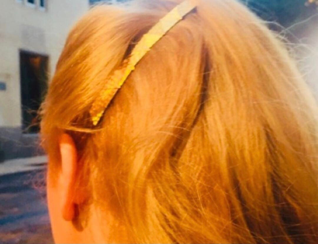 Gold Geometric French Barrette