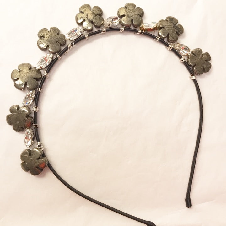 Pyrite Flower Crystal Crown