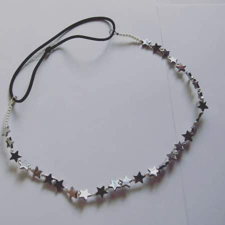 Metal Star Beaded Headpiece