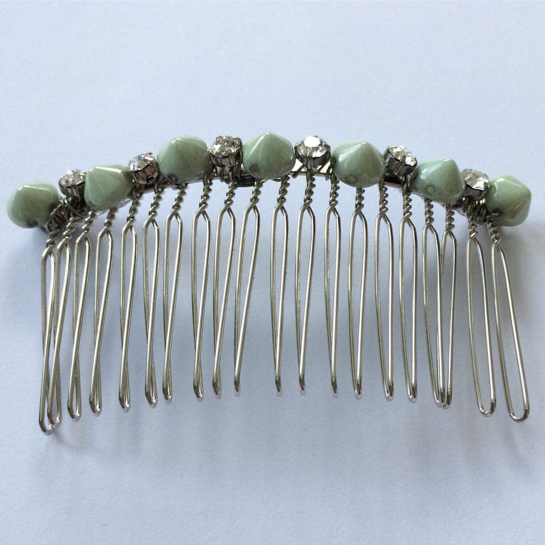 Spike Crystal Hair Comb