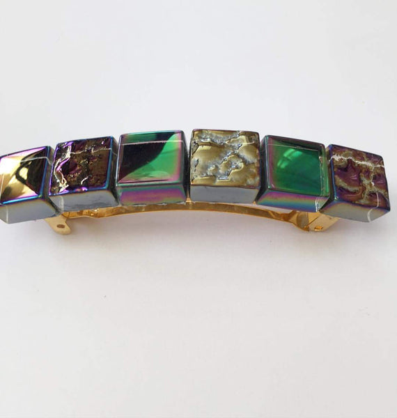 Rainbow Glass Barrette