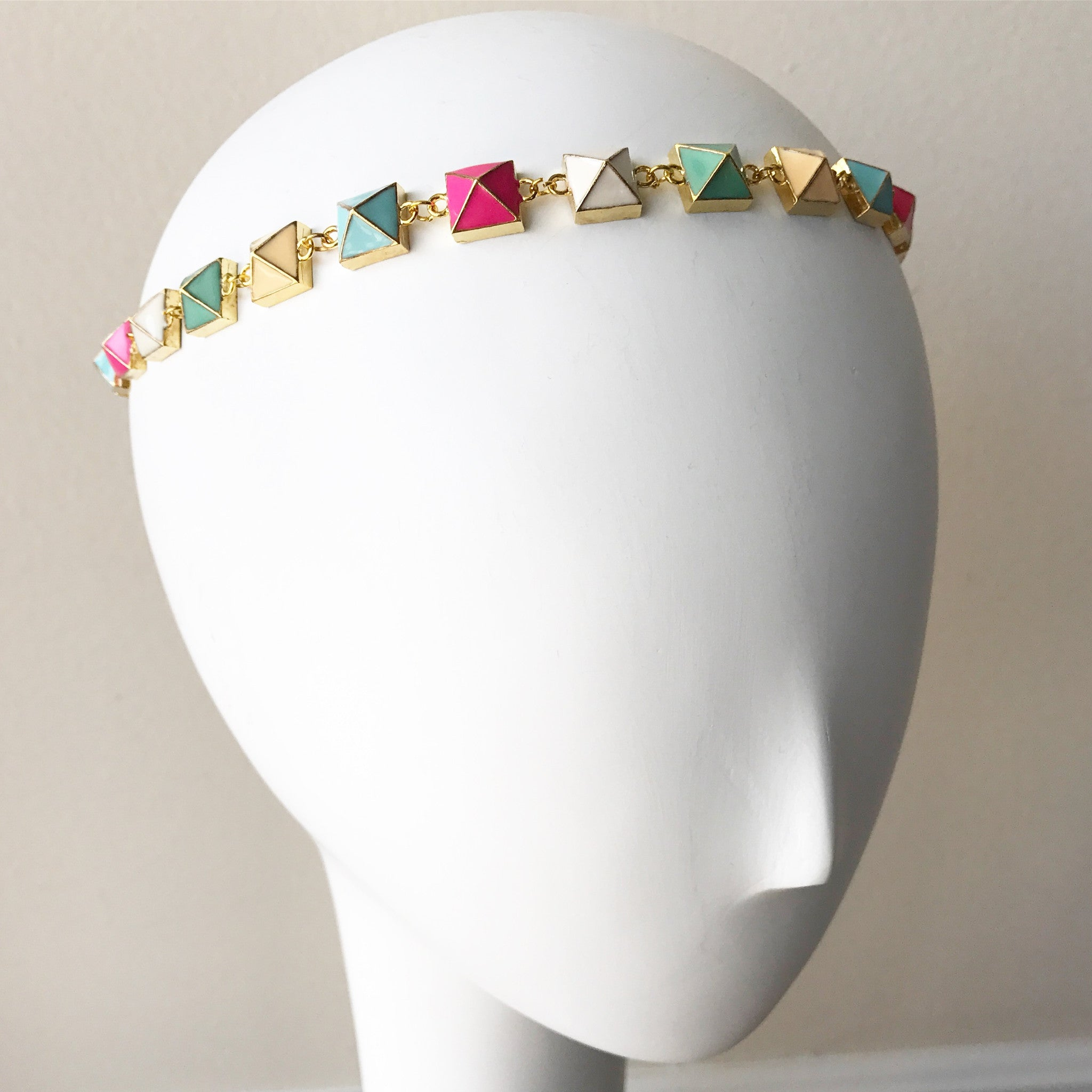 Pastel Pyramid Headpiece