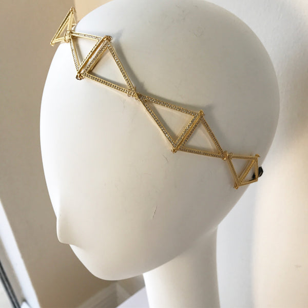 Crystal Triangle Headpiece