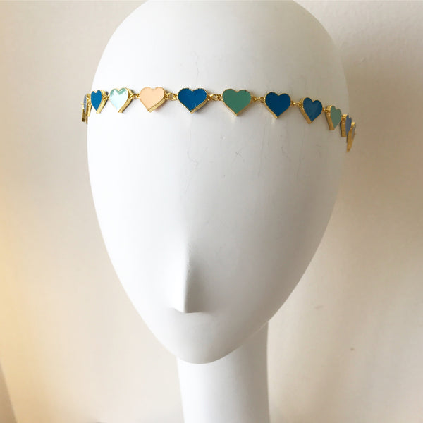 Enamel Heart Headpiece