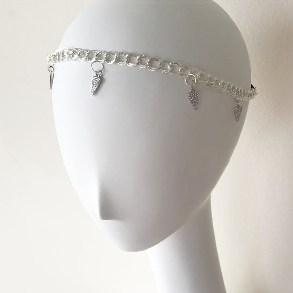 Crystal Charm Chain Headpiece