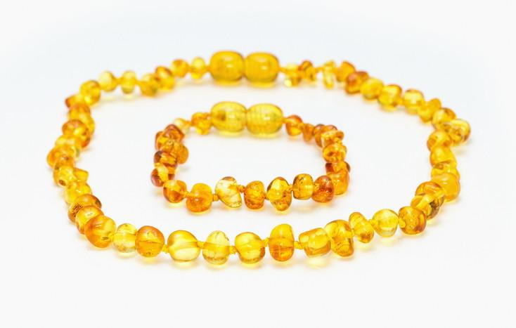Grech & Co. Baltic Amber Children's Bracelet / Anklet - Enlighten