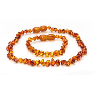Grech & Co. Baltic Amber Children's Necklace - Strength
