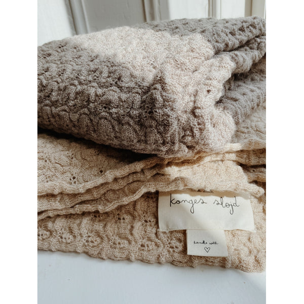 Konges Slojd Wool Baby Blanket Almond