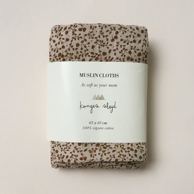Konges Sløjd Muslin Cloths Blossom Mist Burk 3 pack 100% organic cotton